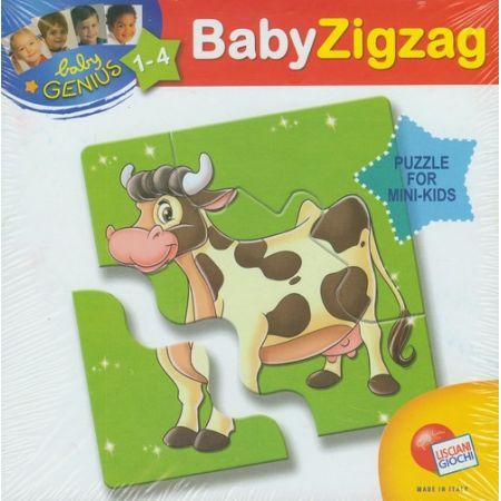 Puzzle Baby Genius Zigzag Krowa