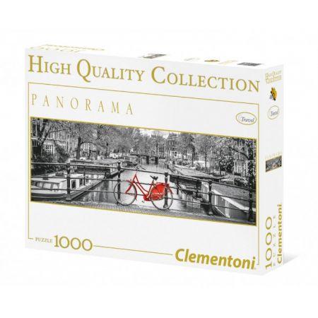 Puzzle 1000 Panorama Amsterdam Bicycle Clementoni