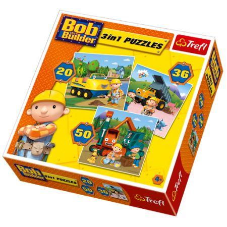 Puzzle 20,36,50el Bob Budowniczy 34129 Trefl