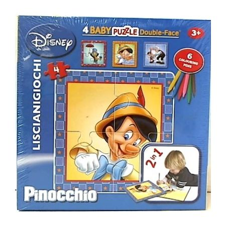 Puzzle dwustronne 4 elementy Baby. Pinokio Lisciani